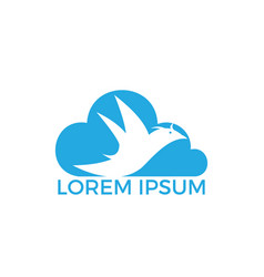 bird and cloud logo design vector image