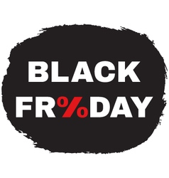 black friday sale concept vector image