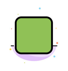 Box checkbox unchecked abstract flat color icon vector