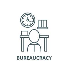 Bureaucracy line icon linear concept vector