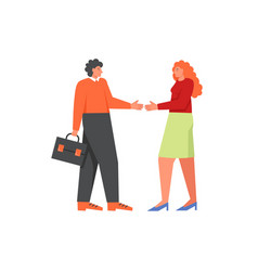 business people handshake flat style vector image