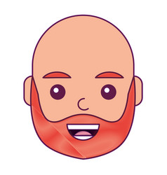 character man face laughing happy image vector image