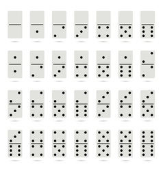 Collection of old fashioned domino set vector image