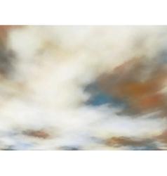 Creamy clouds vector
