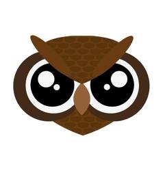 Cute owl cartoon icon vector