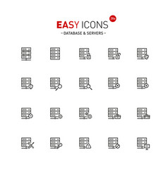 easy icons 28a database vector image
