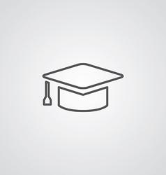 education outline symbol dark on white background vector image