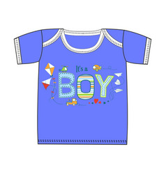 Fashion cute clothes for newborn boy vector
