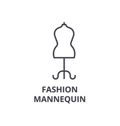 fashion mannequin line icon outline sign linear vector image