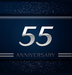 fifty five years anniversary celebration logotype vector image