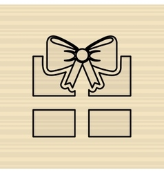 gift icon design vector image