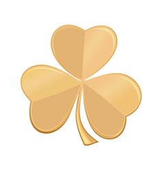 Golden icon trefoil clover vector