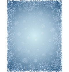 gray christmas background with frame of vector image