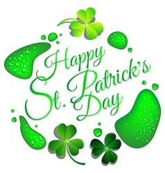 Green beer drop for St Patricks Day card vector