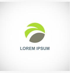 green nature abstract eco logo vector image