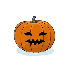 Halloween Vicious Pumpkin vector image