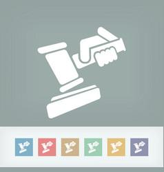 hammer judge vector image
