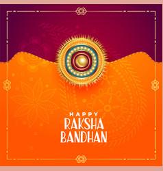 Indian design style raksha bandhan festival vector