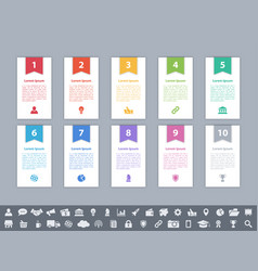 infographic design business concept with 10 steps vector image