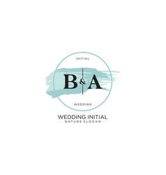 Initial ba letter beauty logo handwriting vector