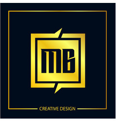 Initial letter mb logo template design vector
