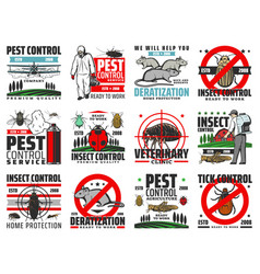 Insects pest control deratization extermination vector