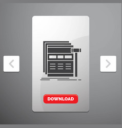 internet page web webpage wireframe glyph icon in vector image