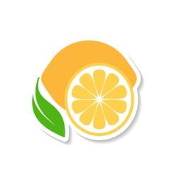 Lemon fruit icon label vector image
