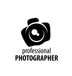 logo camera the photographer vector image
