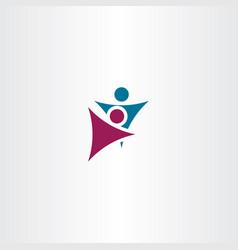 man and woman dancing symbol element logo vector image