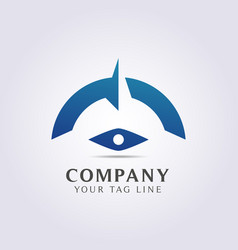 modern compass abstract logo template for your vector image