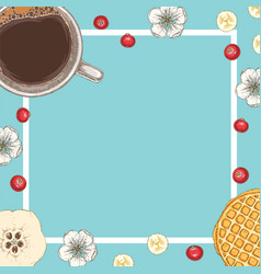 morning coffee card or menu template vector image