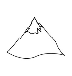 mountain peak isolated vector image