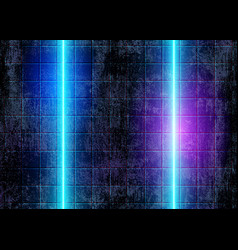 Neon glow lights futuristic 80s background vector