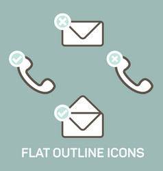 new message and calls icons set vector image