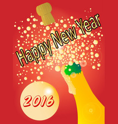 new years bottle vector image