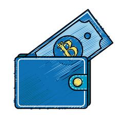 Nice wallet to save bill money vector