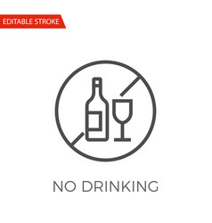 no drinking icon vector image