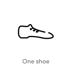 Outline one shoe icon isolated black simple line vector