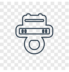 pad concept linear icon isolated on transparent vector image