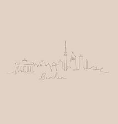 pen line silhouette berlin beige vector image
