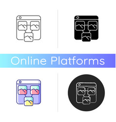 photo sharing platforms icon vector image