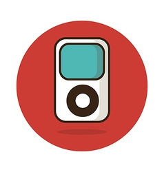 Portable media player icon vector