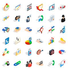 Progress icons set isometric style vector