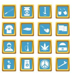 Rastafarian icons azure vector