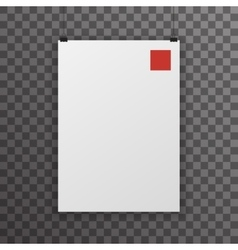 realistic a4 poster transparent icon template vector image