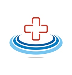 red medical icon design vector image