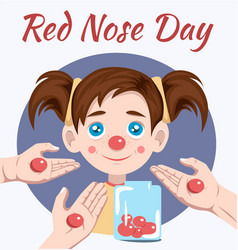 Red nose day vector
