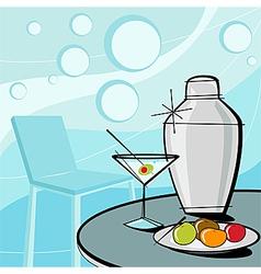 Retro of martini style vector