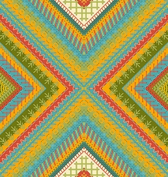 Seamless embroidery pattern vector image
